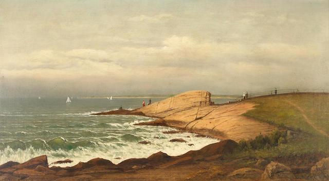 Charles Wilson Knapp (American, 1823-1900) Morning, Narragansett 20 x 36in