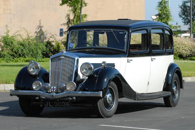 1936 Wolseley Super Six Single Limousine  Chassis no. 225L518 Engine no. 630