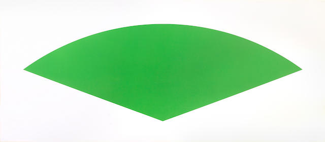 Ellsworth Kelly (American, born 1923); Green Curve (State ll);
