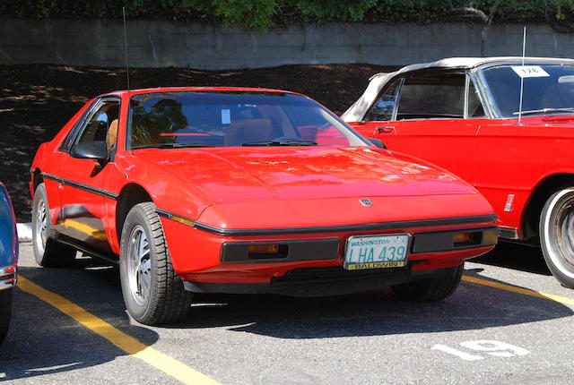 1985 Pontiac Fiero Coupe  Chassis no. VIN1G2PF37R9FP219059