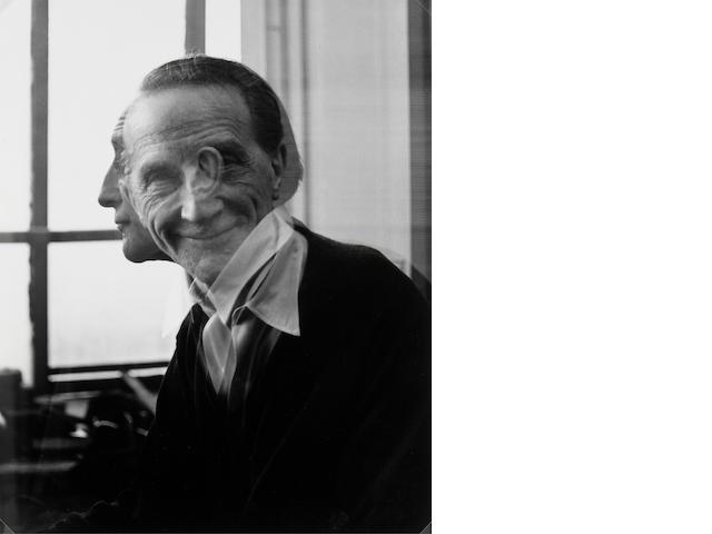 Victor Obsatz; Portrait of Marcel Duchamp 1953 gelatin silver print;