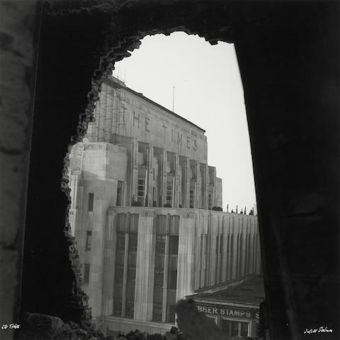 Julius Shulman (American, 1910-2009); L.A. Times Building; Los Angeles Times 'Bombed'; (2)
