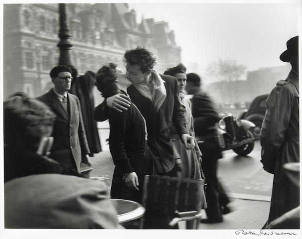 Robert Doisneau Le Basier de l'Hotel de Ville 1950 later impression Gelatin Silver Print 10 x 12 inches