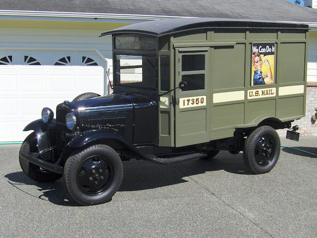 #17350,1931 Ford Model AA Postal Delivery Truck  Chassis no. AA4828082