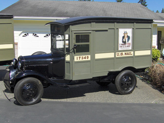 #17349,1931 Ford Model AA Postal Delivery Truck  Chassis no. AA4018873