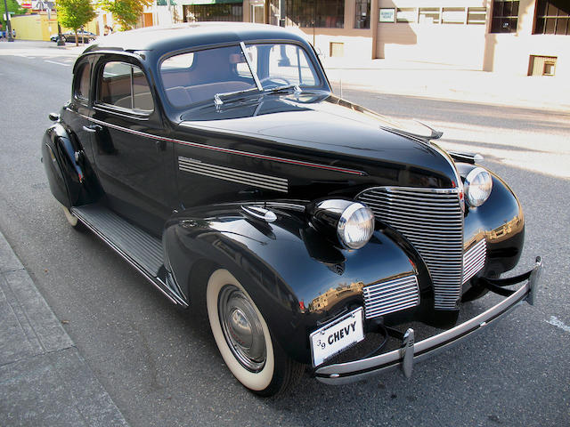 1939 Chevrolet Master Deluxe Business Coupe  Chassis no. 5JA0634855 Engine no. 2595678