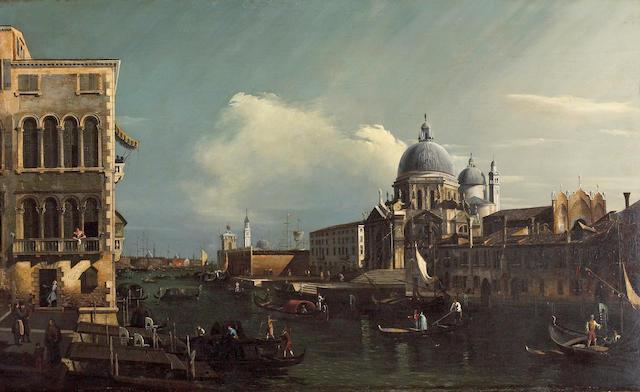 Manner of Bernardo Bellotto Entrance to the Grand Canal, Venice 23 1/4 x 38 1/4in (59 x 97.2cm)