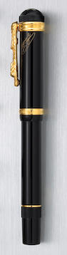"Black and Gold ""Imperial Dragon"" Fountain Pen by Montblanc"