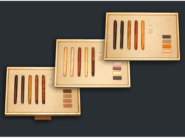 "OMAS Collezione ""Legni Pregiati"" (Precious Wood Collection) Limited Edition Series of Fifteen Fountain Pens"