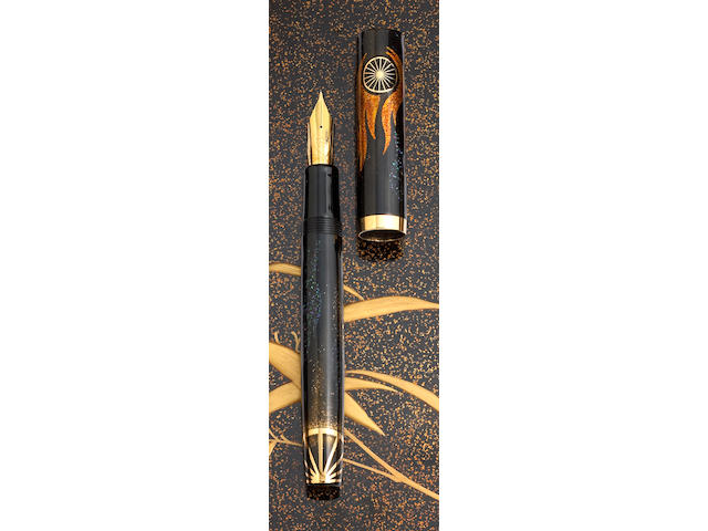 "Maki-e ""Motorites"" Fountain Pen by Dunhill-Namiki"