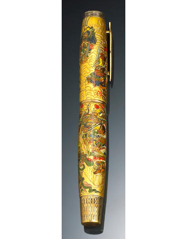 """Hand-Painted """"Art of War"""" Magnum Fountain Pen by Krone"""