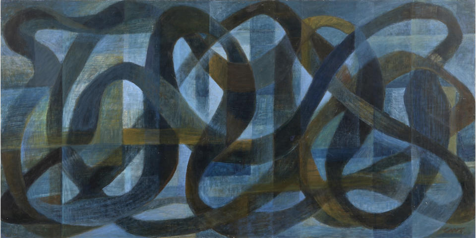 (n/a) Charles Winstanley Thwaites (American, 1904-2002) Obsession, 1961 24 x 47in