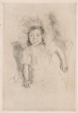 Mary Cassatt (American, 1844-1926); Margot Wearing a Bonnet, No. 3;