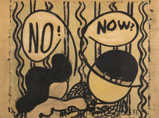 William Nelson Copley (American, 1919-1996) NO! NOW?, 1963 31 x 41 7/8in (78.8 x 106.4cm)