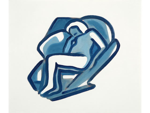 Tom Wesselmann (American, 1931-2004) Study for Blue Nude, 2000 11 1/2 x 13 3/4in (29.2 x 35cm)