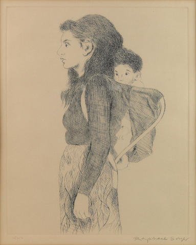 Raphael Soyer (American, 1881-1961); Young Mother;