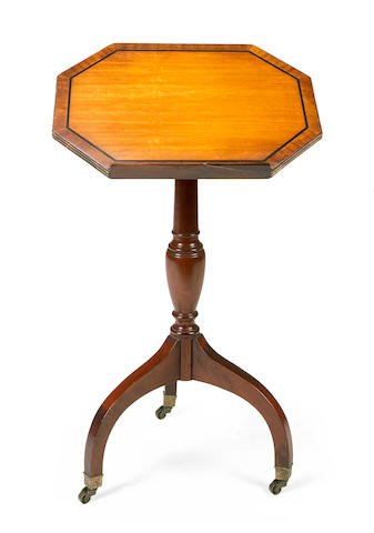 A Regency style mahogany telescopic music stand