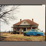 William Christenberry (American, born 1936); House and Car, near Akron, Alabama; (2)