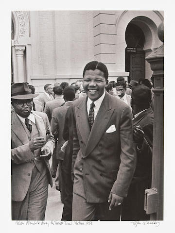 Jürgen Schadeberg (South African, born 1931); Nelson Mandela during the Treason Trial, Pretoria;
