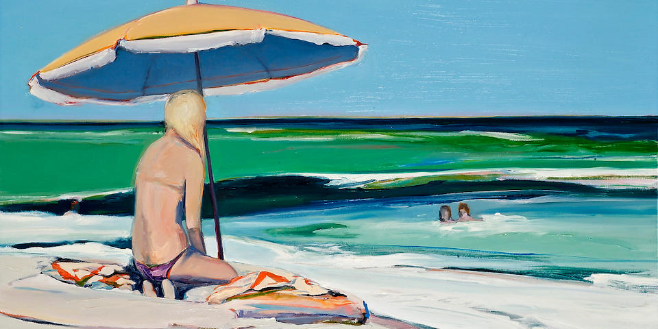 Gregory Kondos (American, born 1923) Beach Girl, 1975 48 x 50in