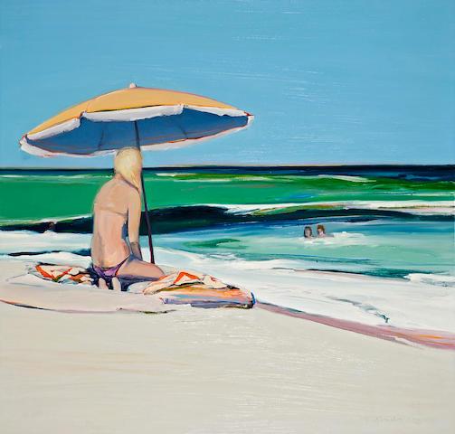 Gregory Kondos (American, born 1923) Beach Girl, 1975 48 x 50in