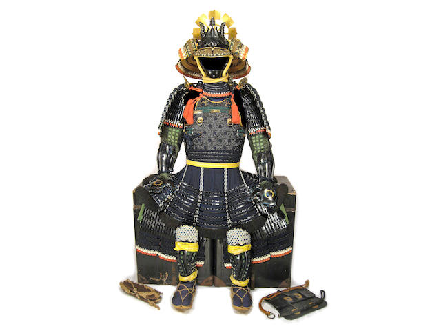 A BLACK-LACQUER NERIGAWA SUIT OF ARMOR Edo period (19th century)