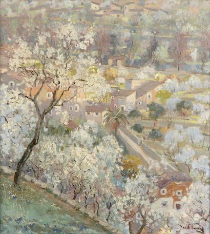(n/a) Josep Castellanas (Spanish, 1896-1980) Vista almendros en flor, 1930 25 9/16 x 23 5/8in