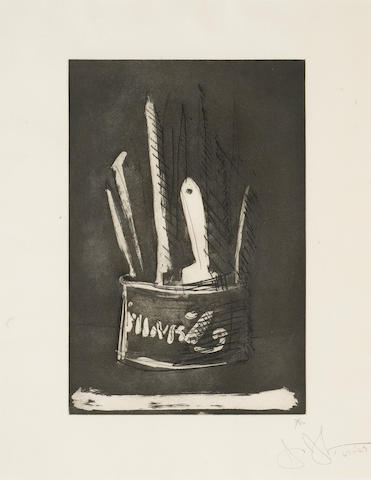 Jasper Johns (American, born 1930); Paint Brushes, from 1st Etchings, 2nd State;