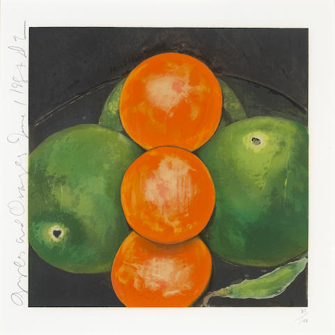 Donald Sultan (American, born 1951); Apples and Oranges, June 1;