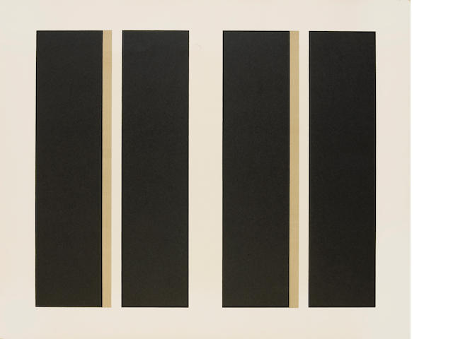 John McLaughlin (American, 1898-1976); Untitled (Vertical Lines);