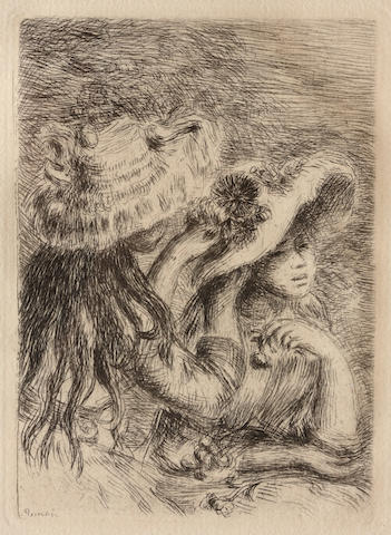 Pierre-Auguste Renoir Le Chapeau Epingle (S. 8; D. 8), c. 1894 Etching Restrike