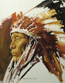 "Oleg Stavrowsky (American, born 1927) ""Afraid of Eagle"" Sioux 24 x 20in"