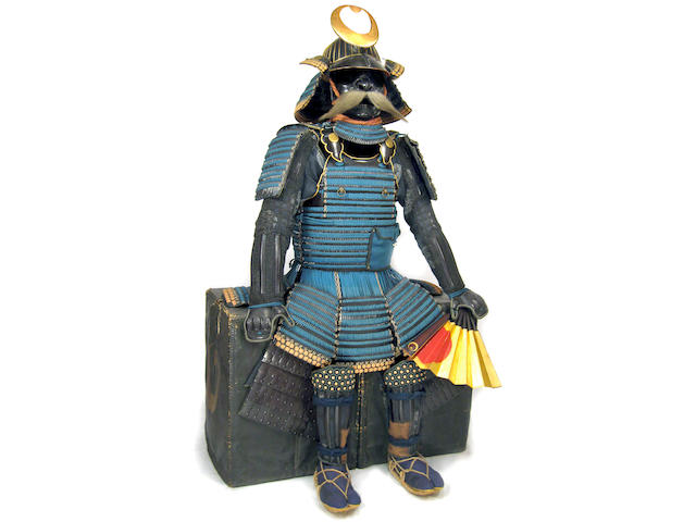 A suit of armor with a nimai tachi do and accoutrements Helmet bowl Muromachi period (16th century), armor late Edo period (19th century)