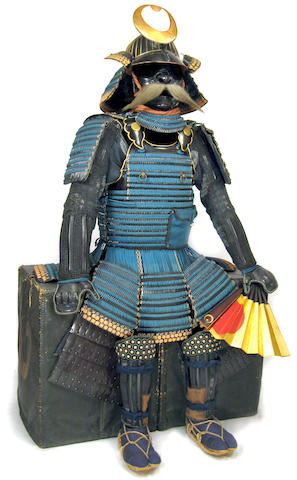 A SUIT OF ARMOR WITH A NI-MAI TACHI DO AND ACCOUTREMENTS Helmet bowl Muromachi period (16th century), armor late Edo period (19th century)