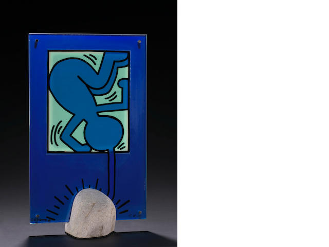 Keith Haring (American, 1958-1990); and Toshiyuki Kita (Japanese, born 1942) On Taro;
