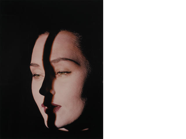 Erwin Blumenfeld (German, 1897-1969); Line on Face, New York;