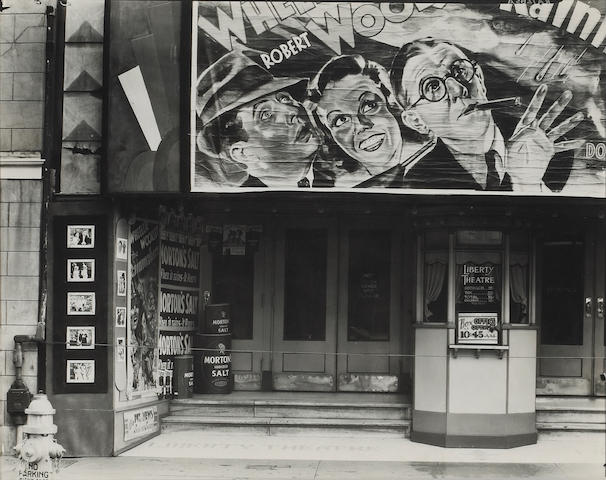 Walker Evans (American, 1903-1975); Movie Theater, New Orleans, Louisiana;