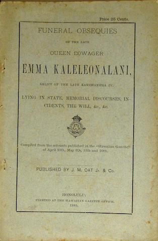 [EMMA KALELEONALANI, QUEEN DOWAGER.  1836-1885.]