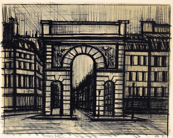 (n/a) Bernard Buffet (French, 1928-1999); Paris. La Porte Saint-Martin;