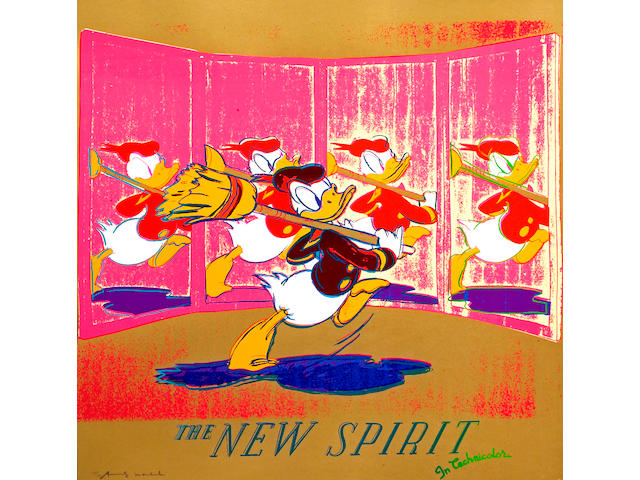 Andy Warhol (American, 1928-1987); The New Spirit (Donald Duck), from Ads;