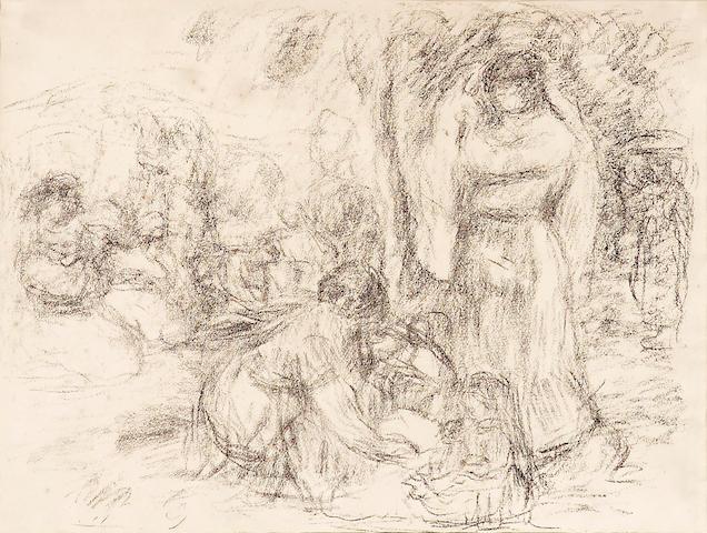 Pierre-Auguste Renoir (French, 1841-1919); Les laveuses, 2e pensée;