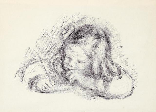 Pierre-Auguste Renoir (French, 1841-1919); Le petit garçon au porte-plume;
