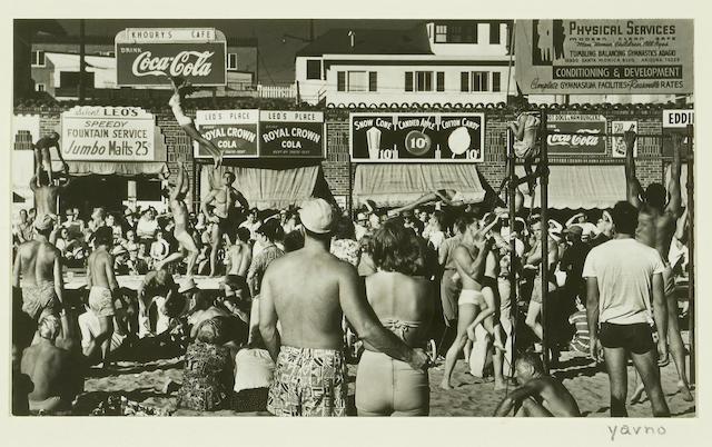 Max Yavno (American, 1911-1985); Muscle Beach;