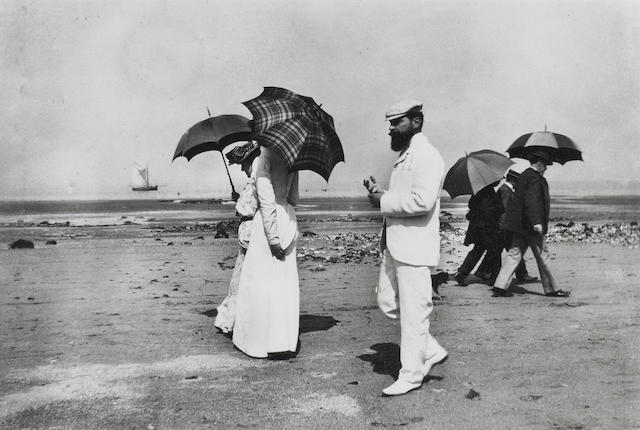 Jacques-Henri Lartigue (French, 1894-1986); Sunday Walkers in Deauville;
