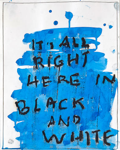 Jack Pierson (American, 1960) It's All Right Here in Black and White, 1992 14 x 11in (35.6 x 28cm)
