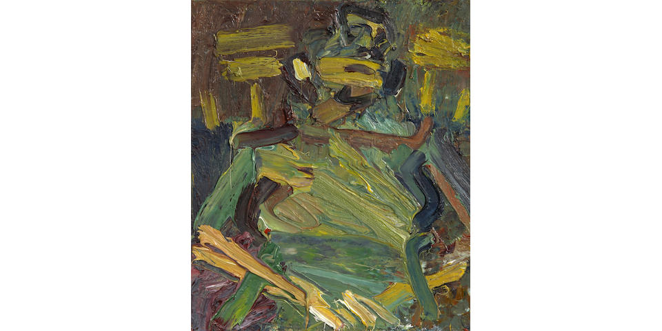 Frank Auerbach (German, born 1931) Portrait of J.Y.M. Seated 40.6 x 33 cm. (16 x 13 in.)