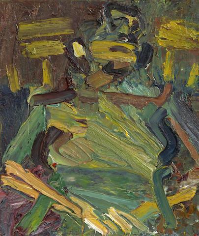 Frank Auerbach (German, born 1931) Portrait of J.Y.M. Seated 40.6 x 33 cm. (16 x 13 in.)
