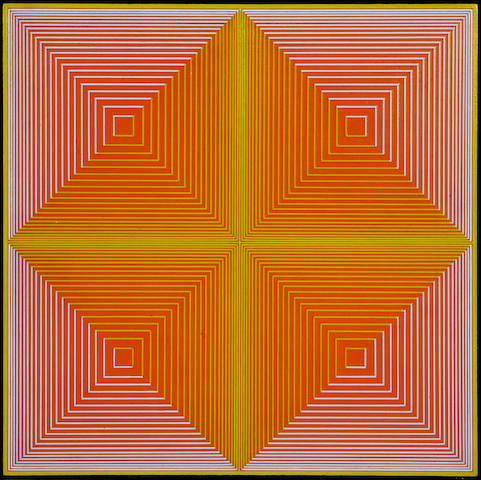 Richard Anuszkiewicz (American, born 1930) Union of the Four IV, 1968 16 3/4 x 16 3/4in (42.5 x 42.5cm)