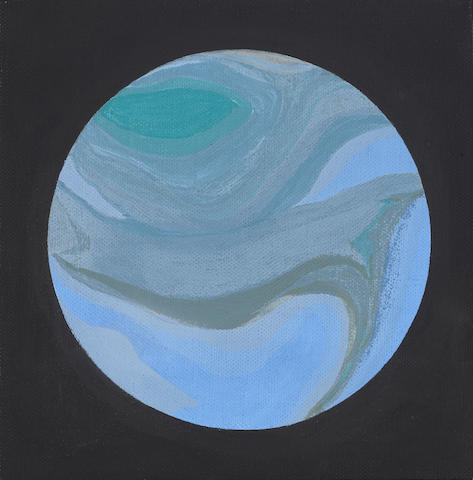 Helen Lundeberg (American, 1908-1999) Planet, 1965 8 x 8in