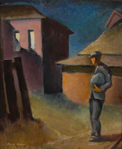 David Levine (American, born 1926) The Stranger, 1936 30 x 25in